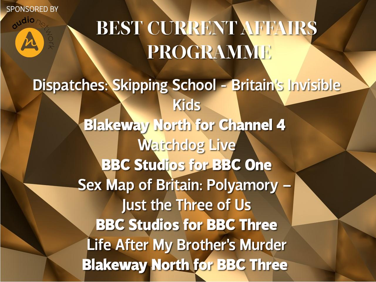 RTS North West Nominations